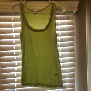 Banana Republic lime green sleeveless top.